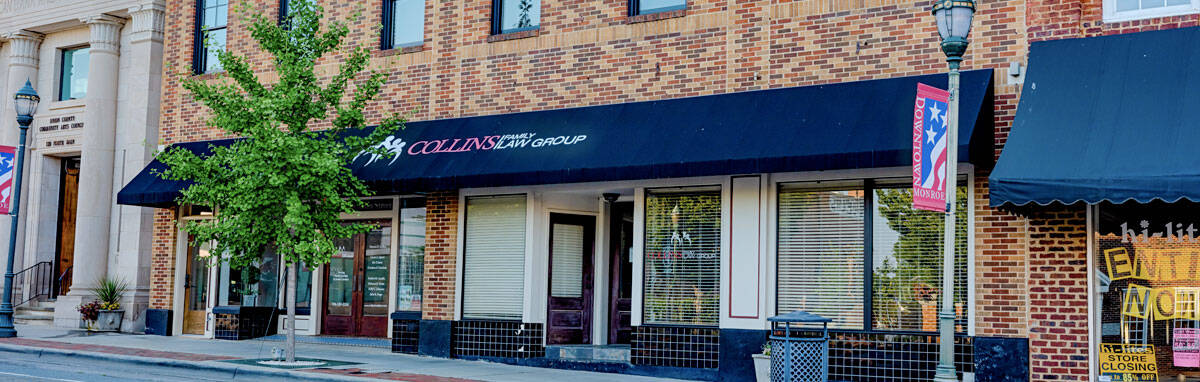An office location in downtown monroe for Collins Family Law Group